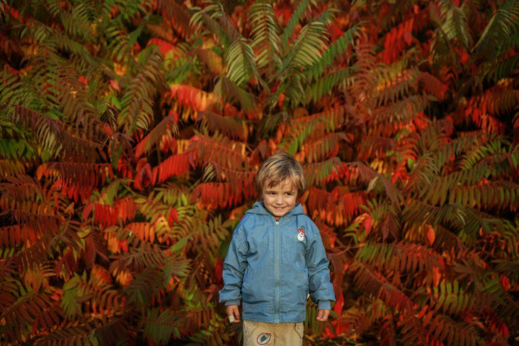 Sama doma a focení dětí na podzim – část 2.